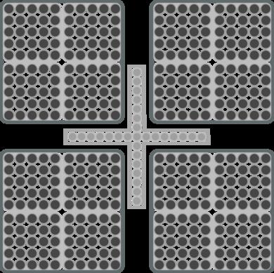 Der Grundriss eines Brennstabbündels zeigt die Geometrie im Detail auf - Eng