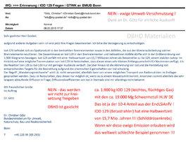 das IOD 129 Problem ist schon lange bekannt - ein Problem das bei Entlassung in die Atmosphäre ewig weiterbesteht