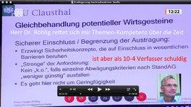 Bilder aus die einzig öffentliche übertragene Sitzung (Video-Wiederholung im Parlaments-Fernsehen) die es im Bundestag zur EndLSiAnfVerordnung gab