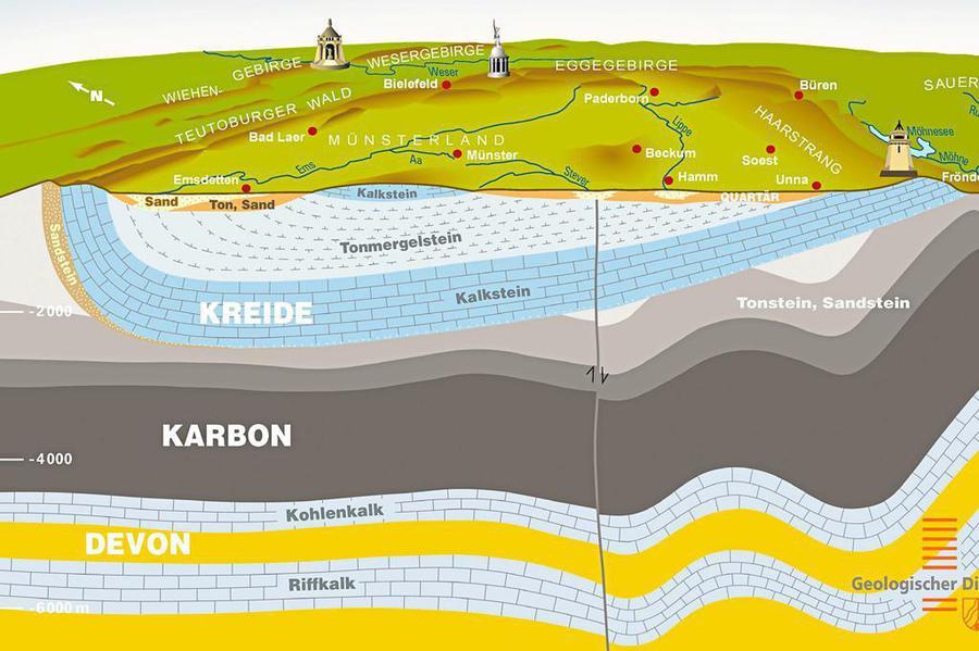 Mitarbeiter vom geologischen Landesdienst bringt eine Karte in die Redaktion