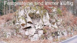 Granit - Festgestein - Kristallin - immer klüftig und nicht gas-dicht verschliessbar