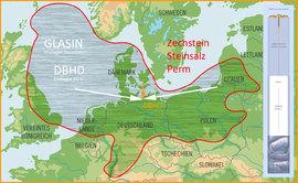 grobe Karte des Zechstein-Meer Steinsalzes - Verbreitung