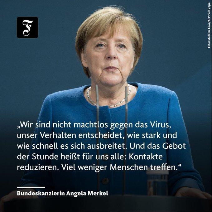 Macht Sie gut - Bravo Frau Merkel - aushungern werden wir das Virus