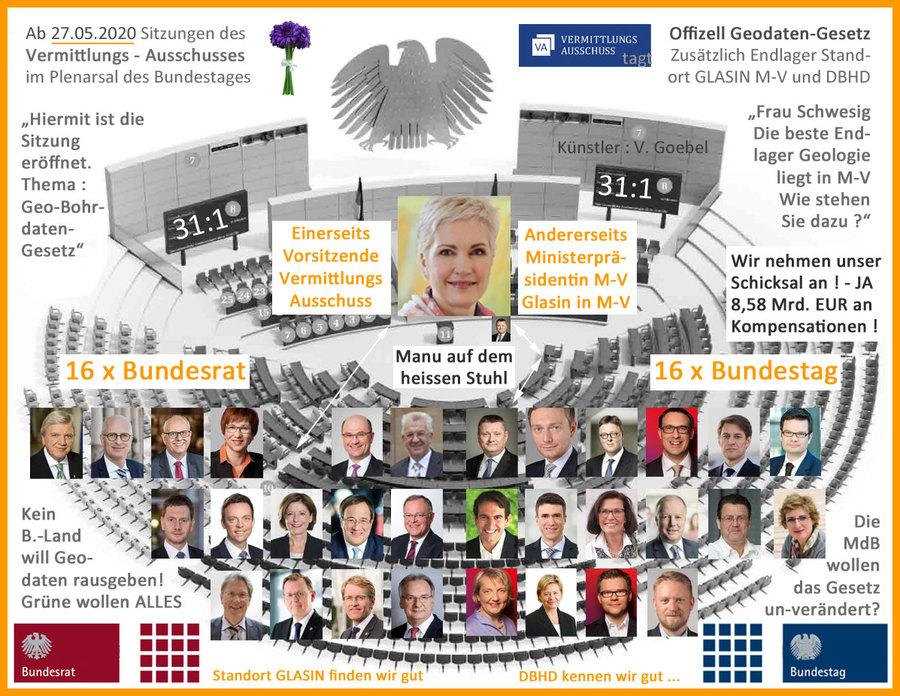 27.05.2020 - Sitzung des Vermittlungs-Ausschusses zum Geodaten-Gesetz im Plenarsaal