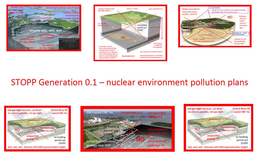 >>> International Warning - Do not build generation 0.1 nuclear repository ideas