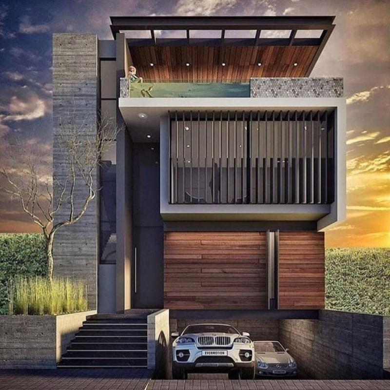 that is an architectural idea for a small lot of land worldwide