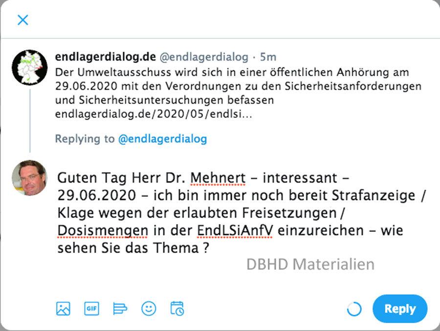 Endlager Sicherheits Anforderungs Verordnung BMU am 26.05.2020 im Umweltausschuss Parlament DE