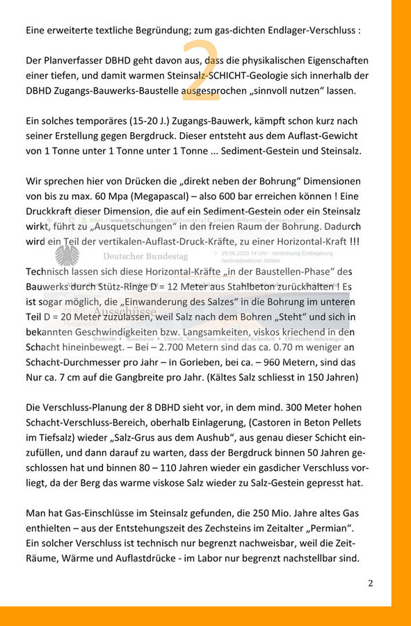 Offizielle Stellungnahme Ing. Goebel zu Freisetzungen10-4 in der EndLSiAnfV