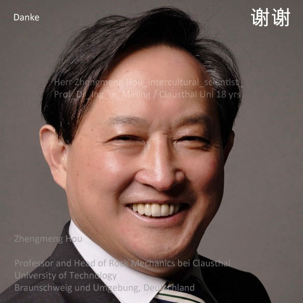 Dank an Prof.-Dr.-Ing. Zhengmeng Hou von der Uni Clausthal