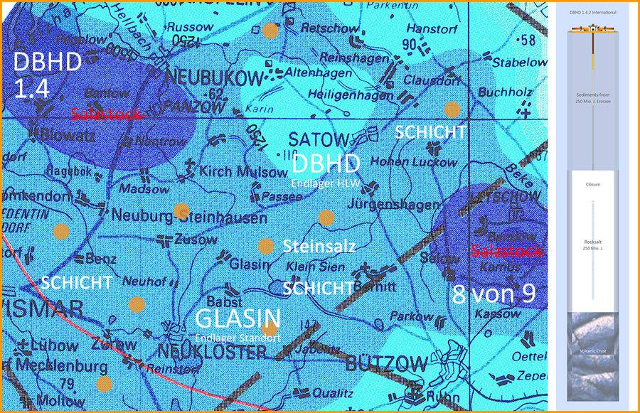 www.endlagersuche-infoplattform.de Vorläufiger Nachweis Endlager-Standort DBHD bei Glasin M-V BRD