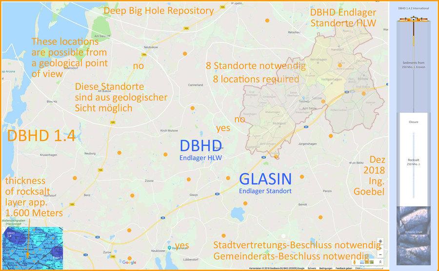 Vorläufiger Nachweis Endlager-Standort DBHD bei Glasin M-V BRD