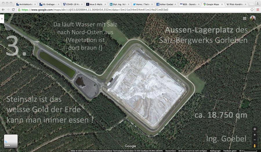 der Aussen-Salz-Lagerplatz gehört zum Salz-Bergwerk dazu