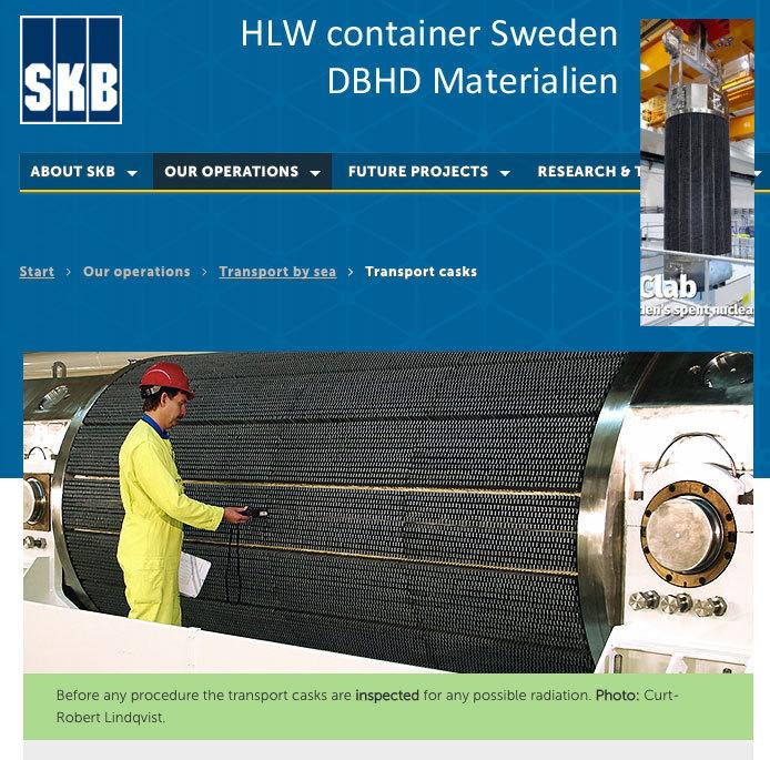 Der HLW Behälter der Schweden