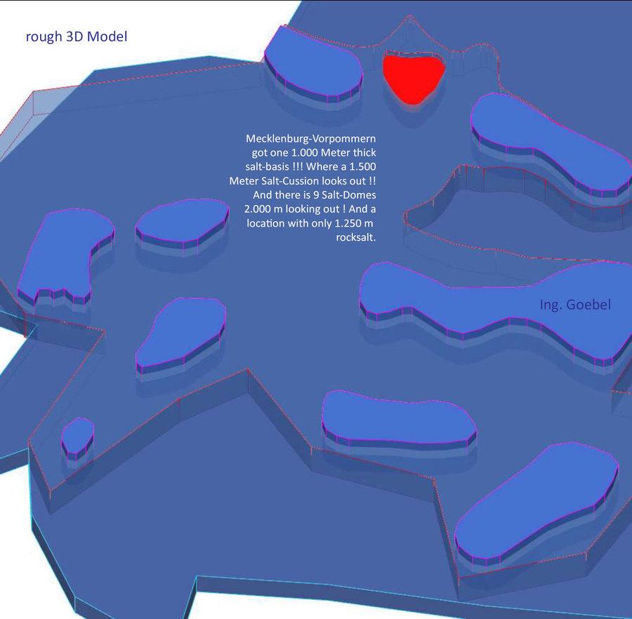 Wie tief liegt das Salz ? Uns ist durch die Karte nur die Mächtigkeit bekannt.