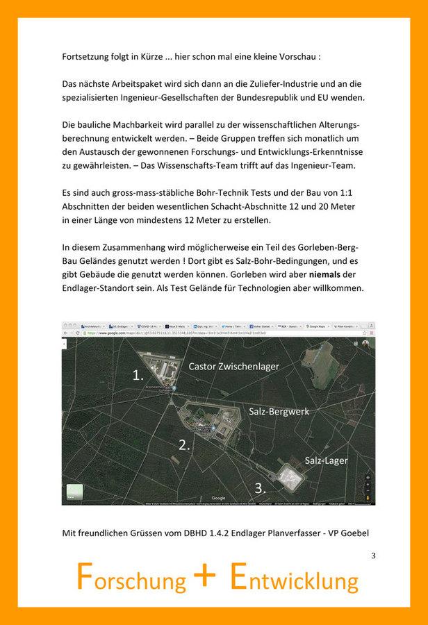 Abriss PKA - Test der Schacht-Bohr-Maschine in Gorleben ?