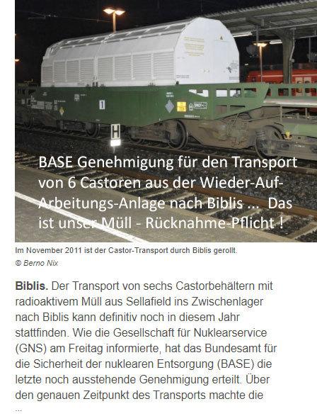 Nicht Demonstrieren - unser Müll - helft lieber beim Endlager DBHD mit
