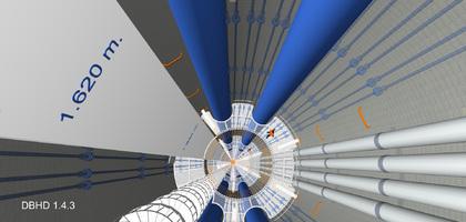 16 Stahl-Rohr-Paare Durchmesser 100 mm mit Schiebern und Flanschen für 340 Bar Auflast-Gewichts-Säulen-Druck
