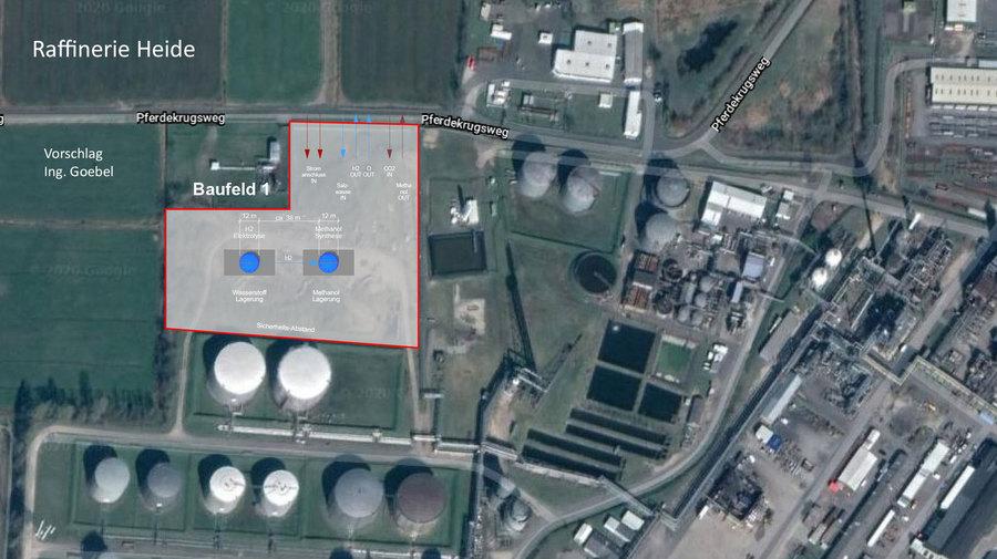 Einpassungs Planung Wasserstoff und Methanol-Schacht