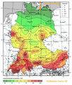 Endlager Standort bei Glasin in Erdbebenkarte Deutschland