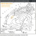 geologische Karte die Schicht-Stärken des Steinsalzes im tieferen Untergrund zeigt
