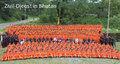so sieht eine Brigade ? des Bhuthanesichen Zivildienstes in der Ausbildung aus