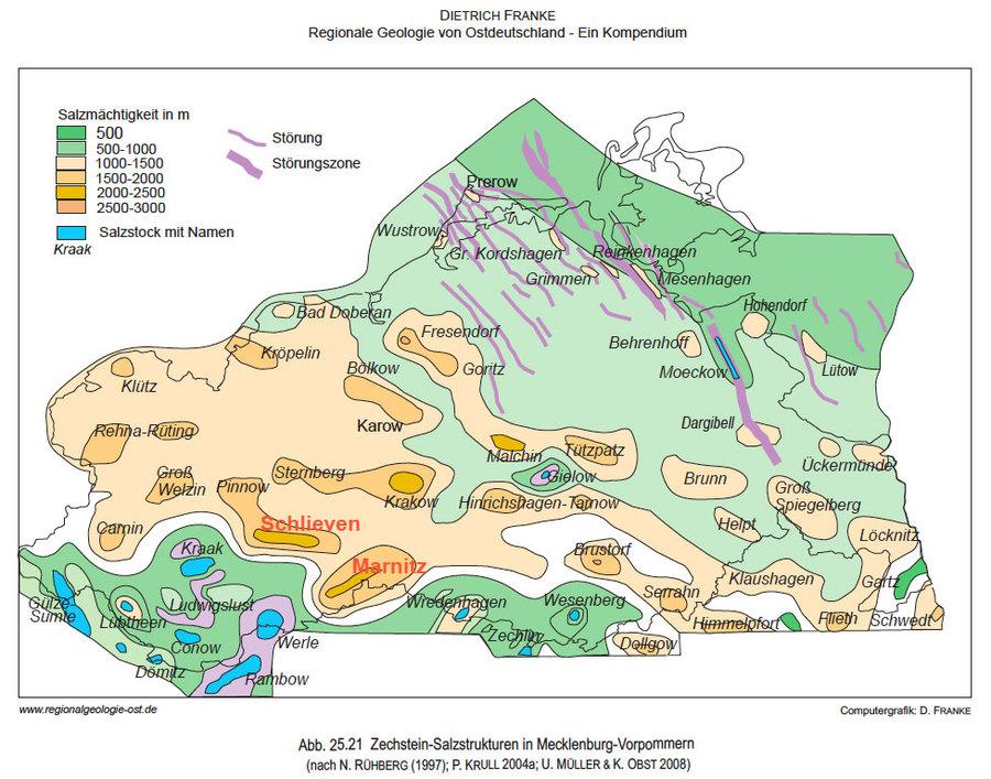 Steinsalz-Strukturen Mecklenburg-Vorpommern Zechstein