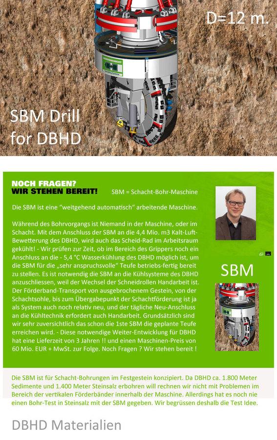 >>> Die SBM ist die notwendige Bohr-Ausrüstung für DBHD Endlager Schacht-Bohr-Maschine - Wassergekühlt - Durchmesser 12 Meter #SBM #Herrenknecht #Schwanau #DBHD #GDF #Download #pdf