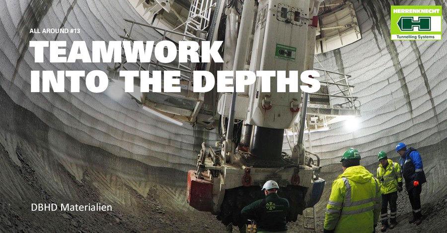 Grossloch Bohrung mit SBR von Fa. Herrenknecht - Drilling Operator Fa. Redpath Deilmann GmbH - Dortmund
