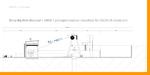 Ansicht Förderturm und Windenhaus werden um eine Portal-Kran-Anlage dazwischen ergänzt