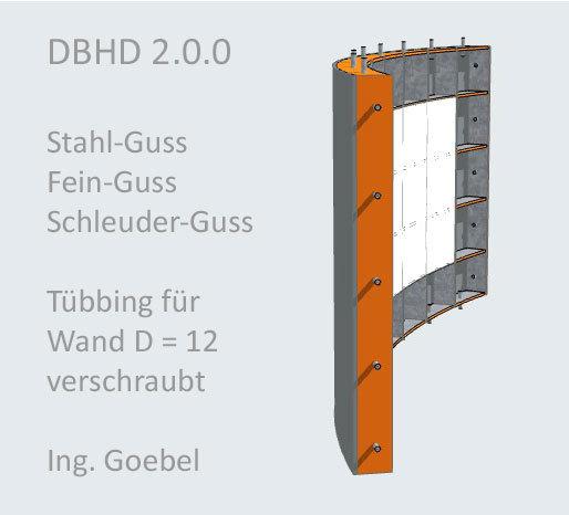 >>> Eigener Entwurf Gross-Stahl-Tübbing für Schacht-Wand-Bau - Das ist Stahl-Guss - das ist Fein-Guss - das ist Schleuder-Guss - wer kann das für welchen Preis ? #DBHD #SteelTubbings #WallElements #Screws #Weldable #WaterTight #Nice #White