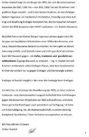Seite 3 von 4 - Strafanzeige und Klage gegen die BGE GmbH - Verfasser Ing. Goebel